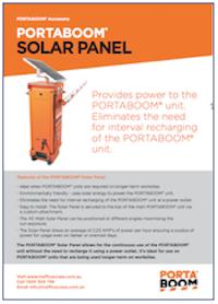 PORTABOOM Solar Panel Brochure