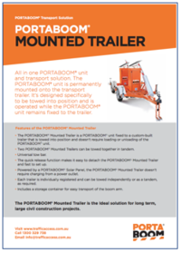 PORTABOOM Mounted Trailer Brochure