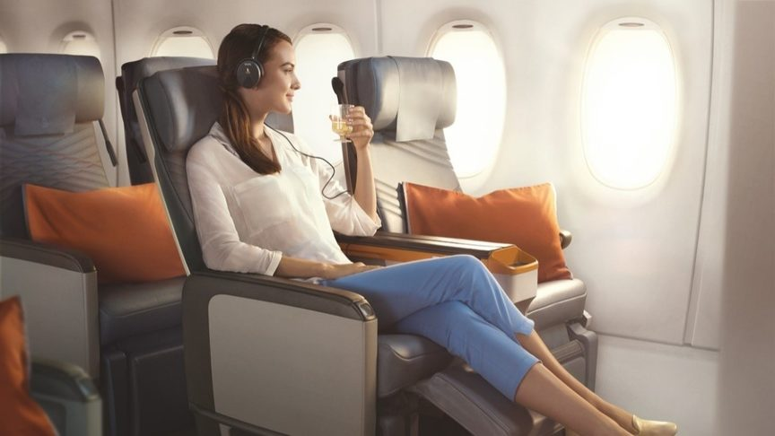 Singapore Airlines Premium Economy. Image credit: Singapore Airlines