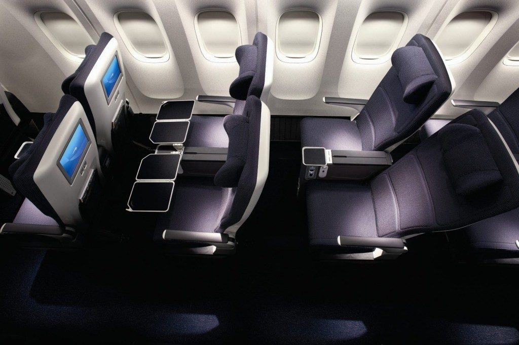 British Airways World Traveller Plus cabin. Image credit: British Airways