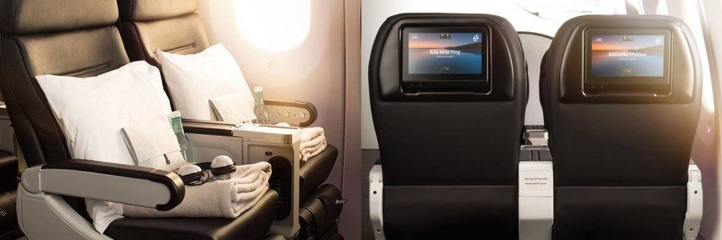 Air New Zealand Premium Economy. Image credit: Air New Zealand