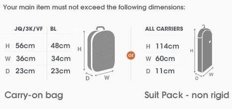 Jetstar carry-on baggage limits