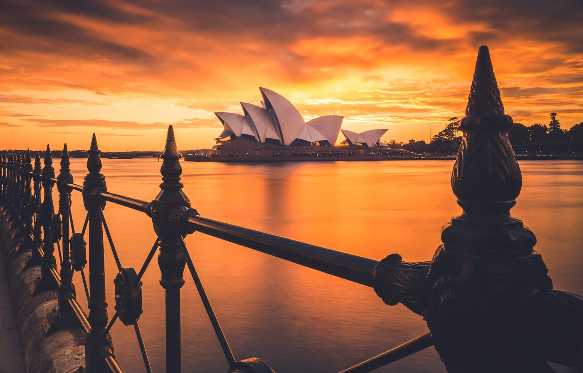 Magic sunsets with the Sydney Opera House as the backdrop