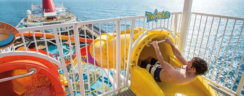 Image: WaterWorks™, Carnival's onboard waterpark. Credit: Carnival Australia.