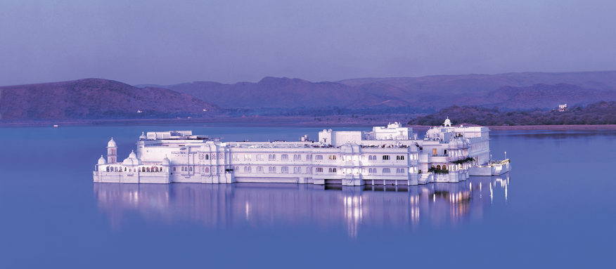 Taj Lake Palace hotel on Lake Pichola, Udaipur. Image credit: Taj Lake Palace