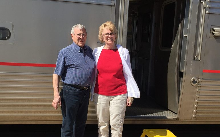 First time riders with Amtrak Vactions, Pam & Jim
