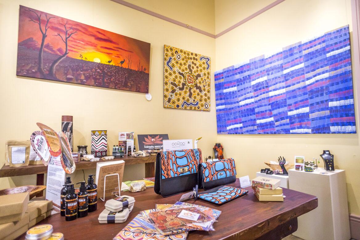 Artwork at Aboriginal Bush Traders_Tourism NTNick Pincott