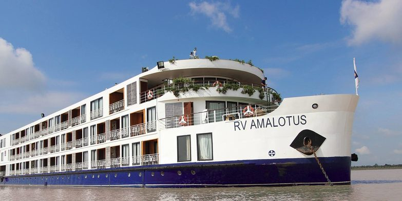 (One of the most luxurious vessels on the Mekong, the RV Amalotus. Image credit: APT)