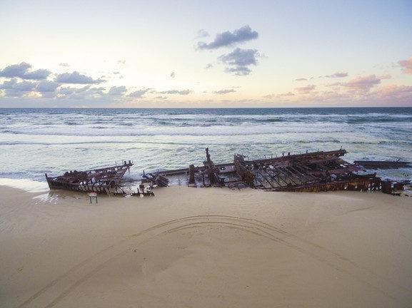 Shipwreck along Fraser Island