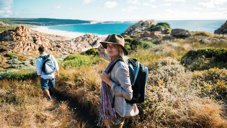 On the Cape to Cape track towards Injidup beach. Credit: Tourism Western Australia.
