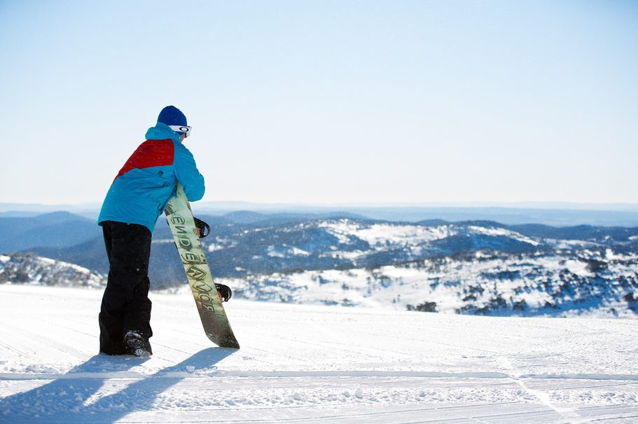 Taking in the view at Perisher. Image credit: Perisher