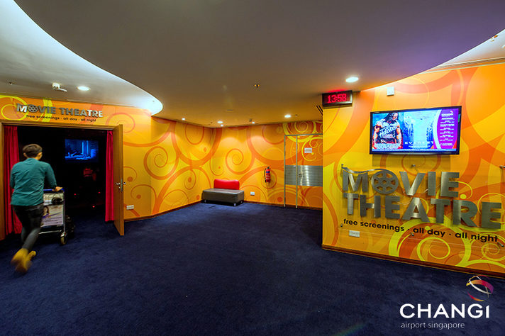 Image: Cinema at Singapore Airport, Terminal 3. Credit: Singapore Changi Airport