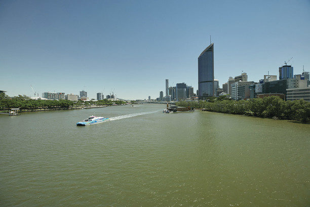 Brisbane CBD view across the river