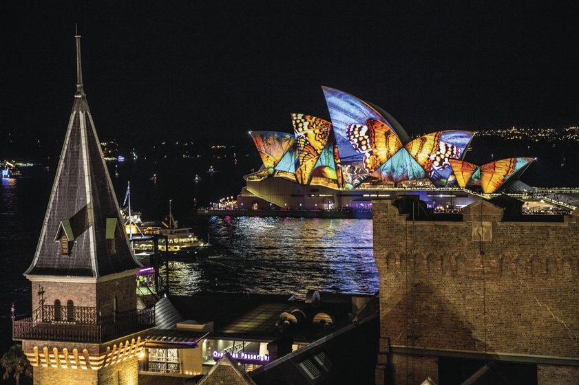 Vivid Festival Opening Night - Sydney Opera House. Credit: Tourism Australia