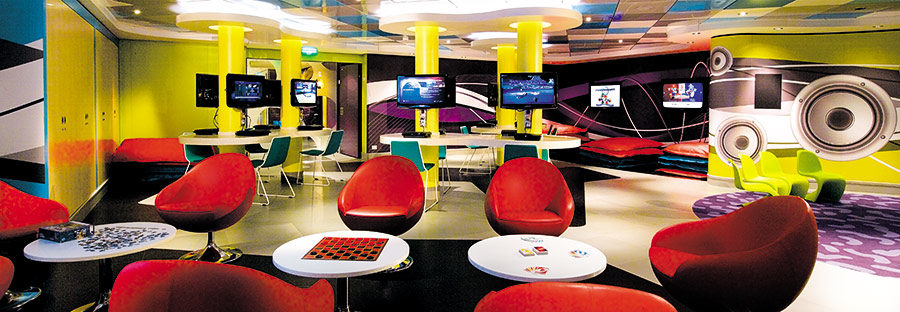 Image: Norwegian Epic's 'Recess' kids area. Credit: Norwegian Cruise Lines.