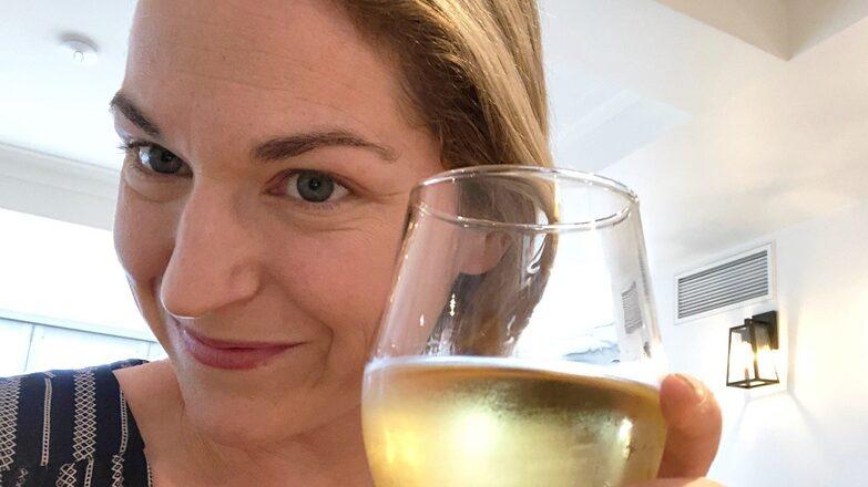 A relaxed Denise after Prasad's safe return to Australia. Credit: Denise Houlihan.