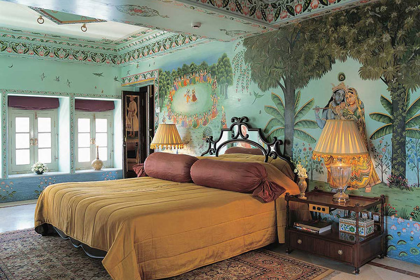 BEd Room, Taj Lake Palace hotel, Udaipur. Image credit: Taj Lake Palac