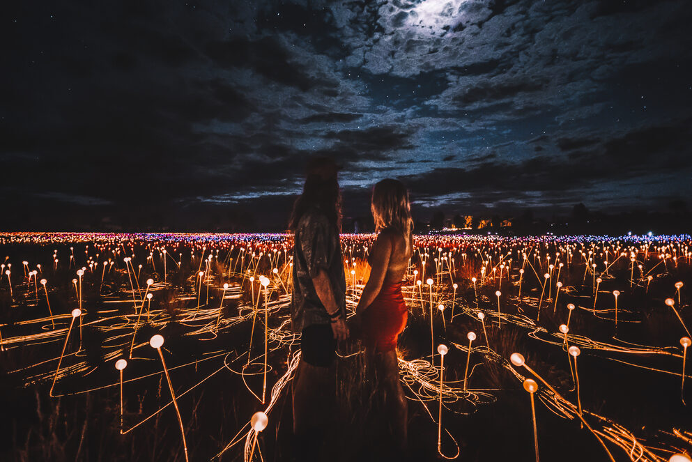Field of Light illuminates visitors-Tourism NT Laura Bell