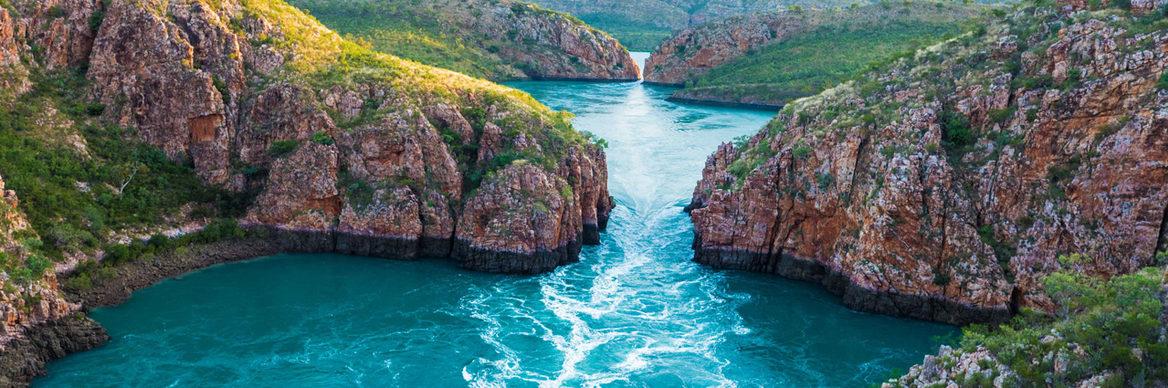 Horizontal Falls. Credit: Kimberley Expeditions.