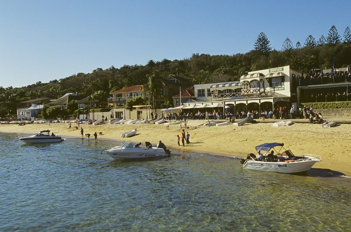 Beach at Watsons Bay with Doyles restaurant, Sydney