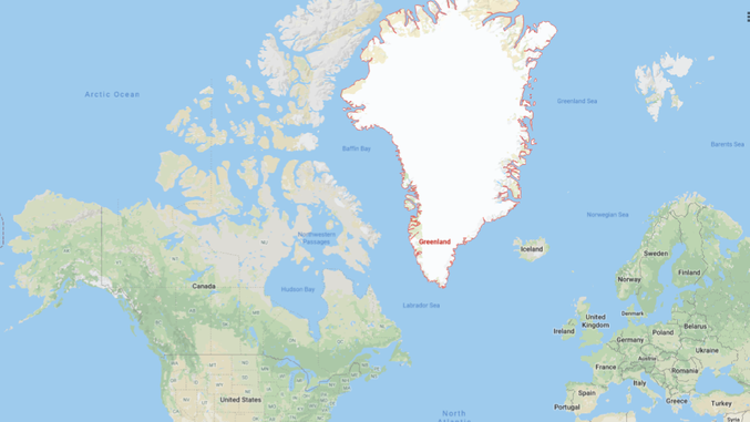 Image: Google - Greenland