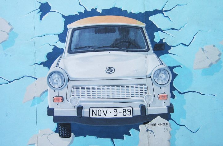 Trabant mural on Eastside Gallery section of the Berlin Wall. Image credit: Ben Alcock