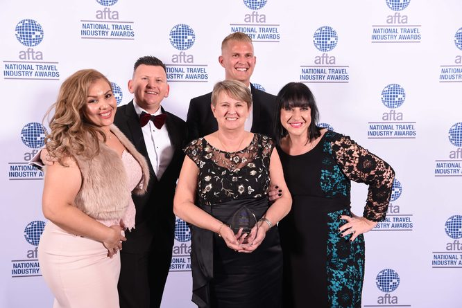 2018 winner of the People's Choice Retail Travel Agency of the Year
