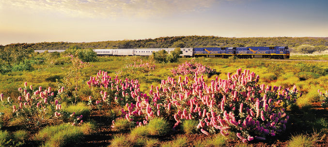 (Image: Australia's Indian Pacific. Credit: Great Southern Rail)