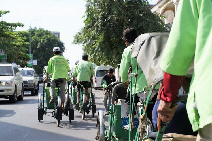 Cyclo tour of Phnom Penh. Image credit: Ben Alcock