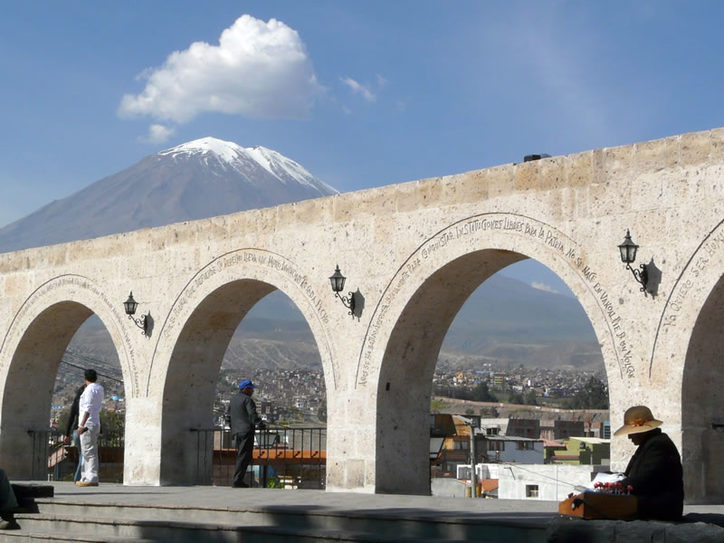 El Misti volcano over the city of Arequipa, Peru. Image credit: Peru Tourism Bureau