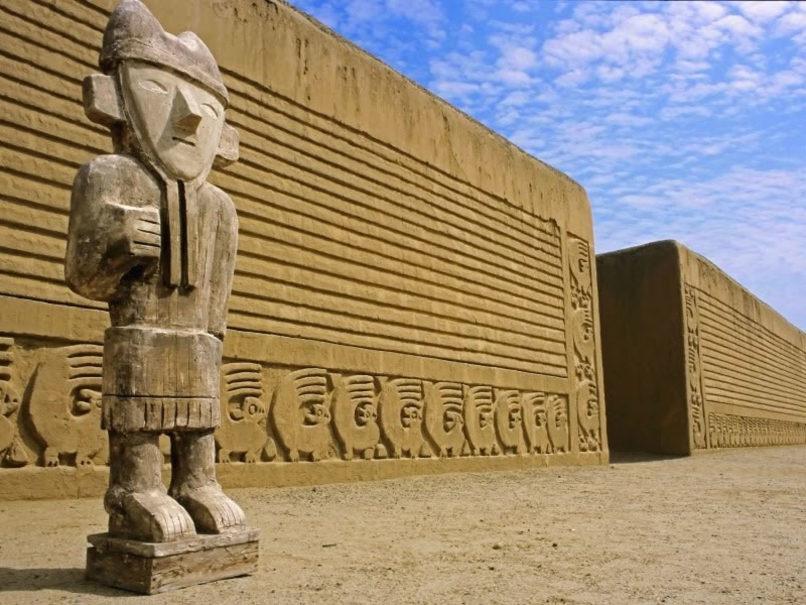 Chan Chan pre-Colombian archaeological site near Trujillo. Image credit: Peru Tourism Bureau