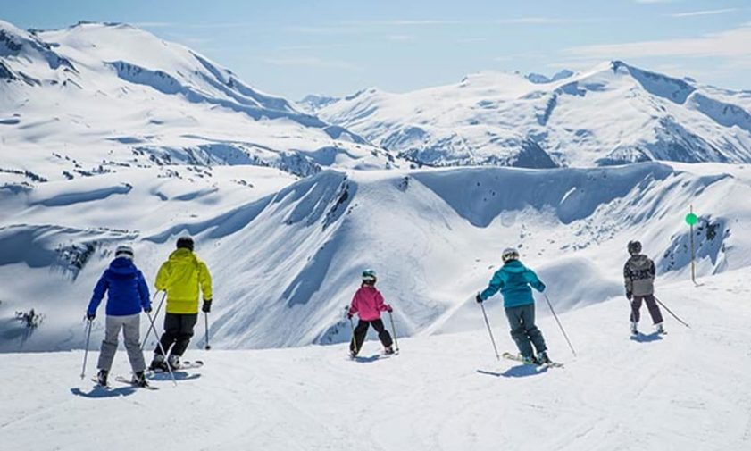 Image: Family on the slopes of Whistler Blackcomb. Credit: www.whistlerblackcomb.com.