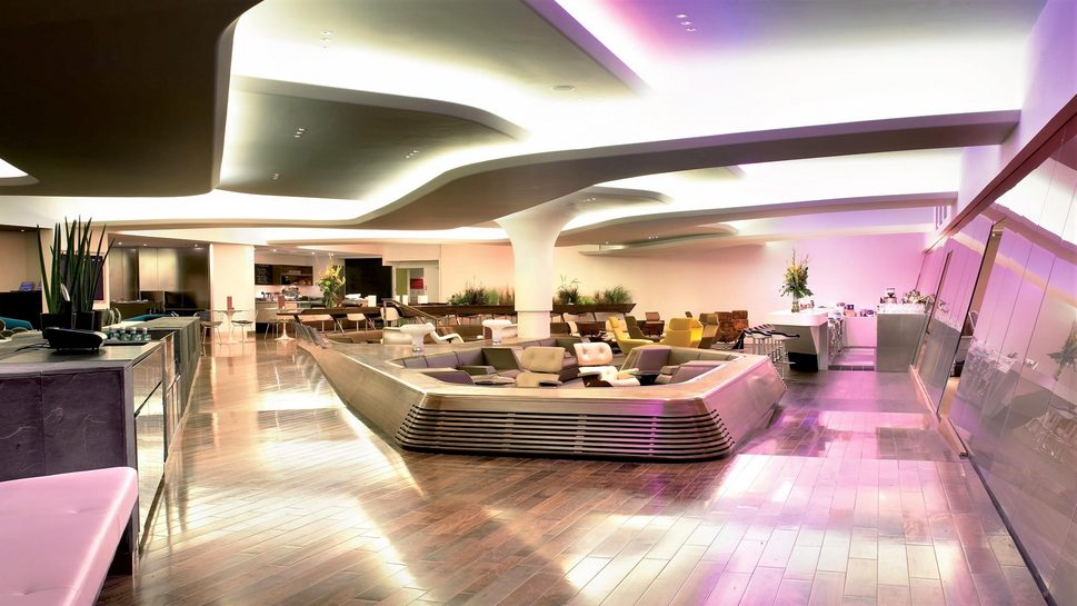 Unfortunately, not everyone gets to chill out in Virgin Atlantic's London Heathrow 'Clubhouse' lounge.
