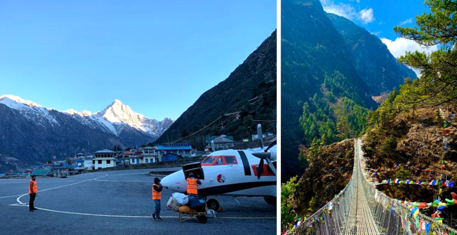 Arrival at Lukla to commence the Everest base camp trek; heading to Namche. Credit: Prasad.