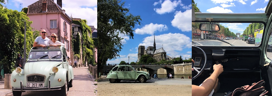 Paris by 2CV. Image credit: Carissa Johnson, Spencer Travel Southside