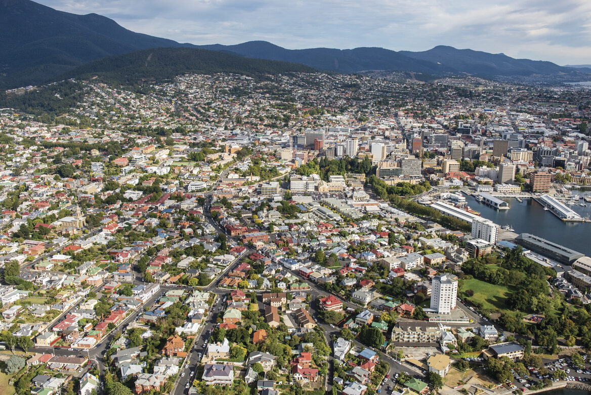 Aerial of Battery Point and Hobart _City of Hobart