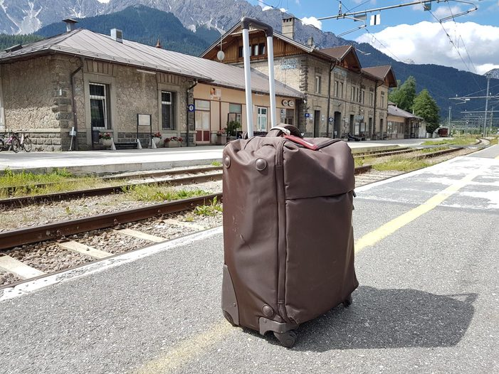 Image: Waiting for the slow train in San Candido, Italy. Credit: Trevor Jones)