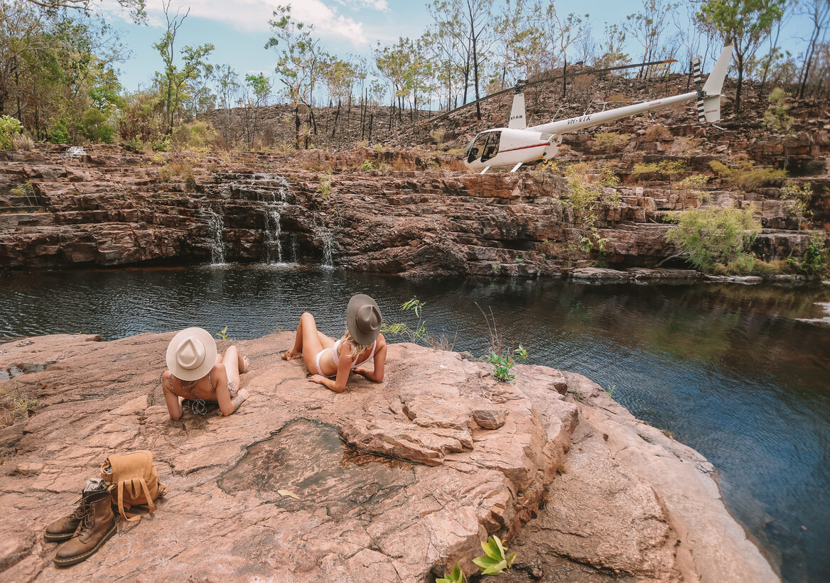 Relaxing at Sandy Creek Image by Tourism NT & Lucy Ewing
