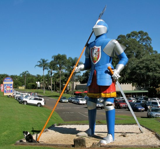 The Big Knight at The Macadamia Castle. Image credit: Stuart Edwards.