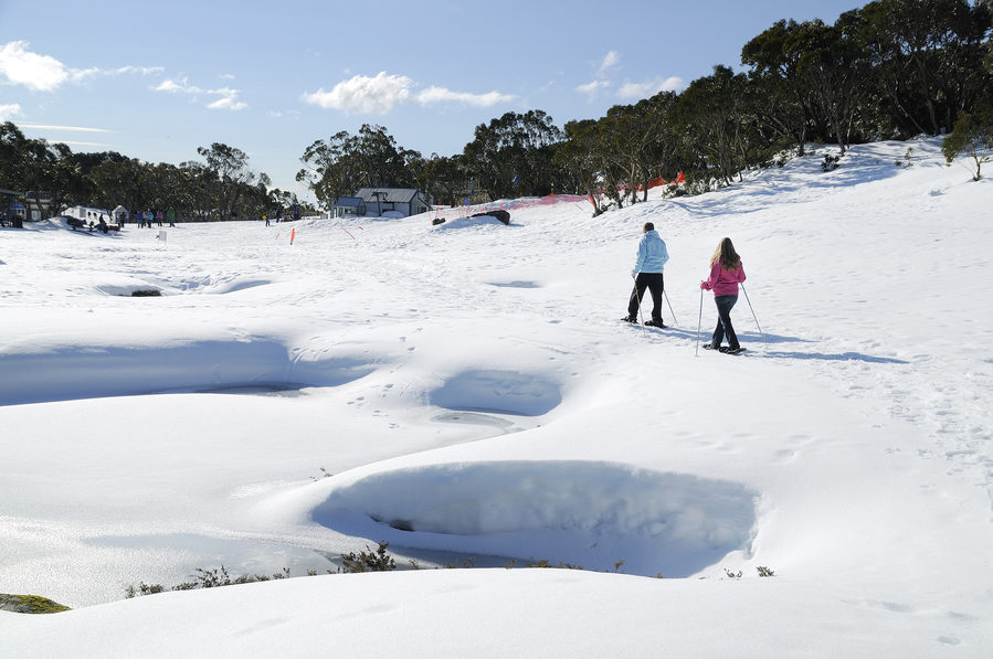 Skiing at Mount Baw Baw. Image credit: Destination Gippsland