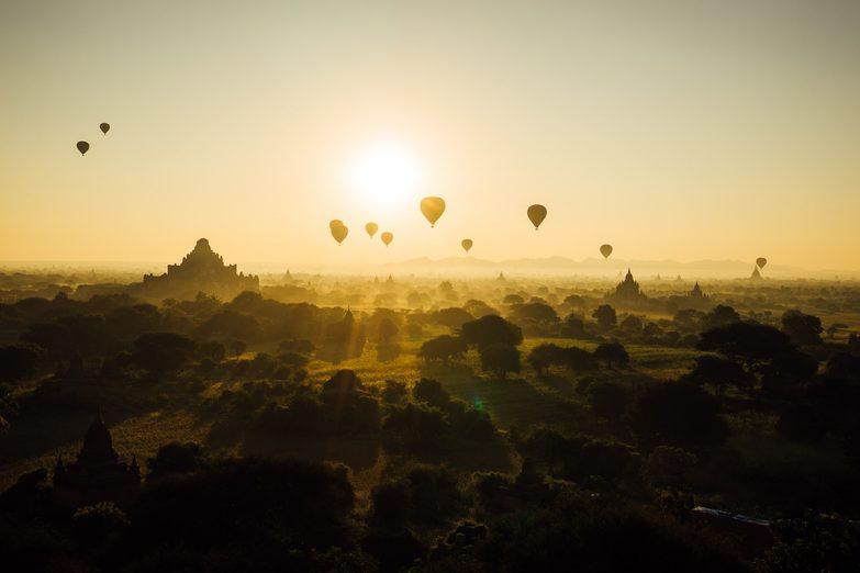 Image: Balloons over Bagan, Myanmar.