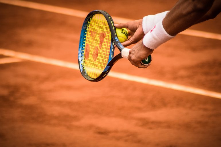 The famous clay courts of Roland Garros, Paris.