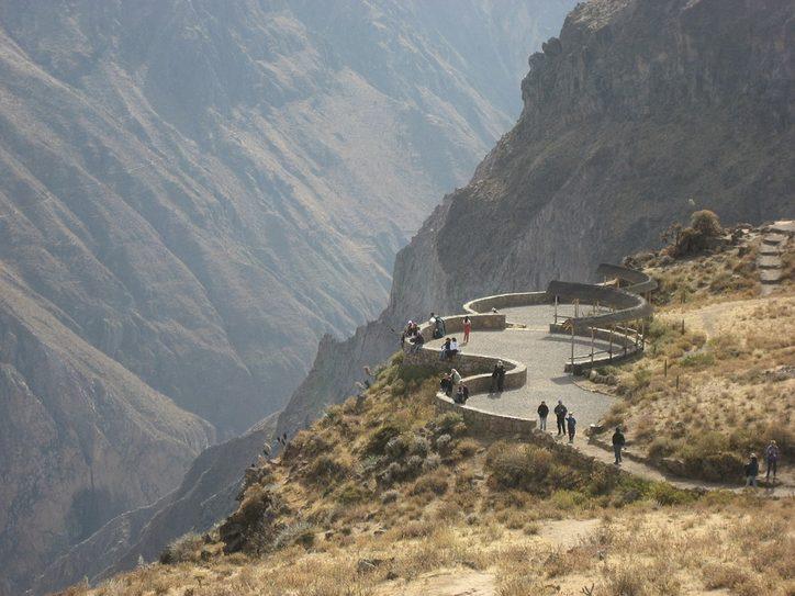 Viewing platforms on the rim of Colca Canyon, Peru. Image credit: Pixabay