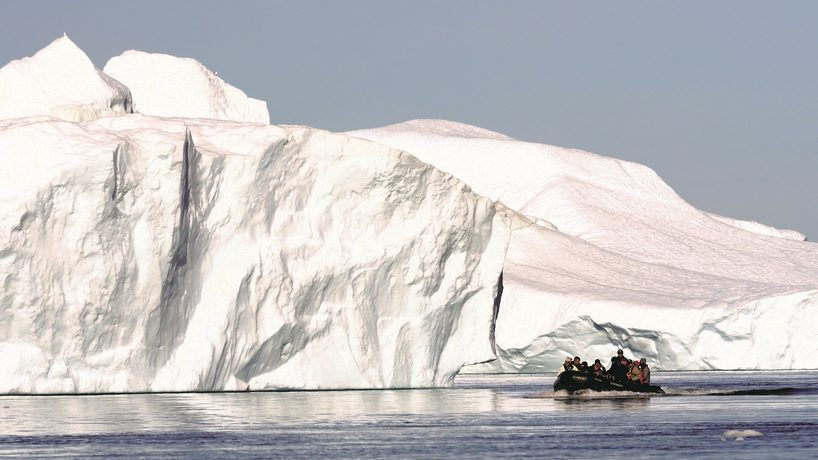 Image: Exploring Greenland's icy waterways and coastline. Credit: World Expeditions.
