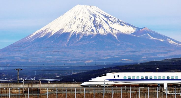 (Image: Japan's iconic Shinkansen 'bullet train'. Credit: Rail Plus)
