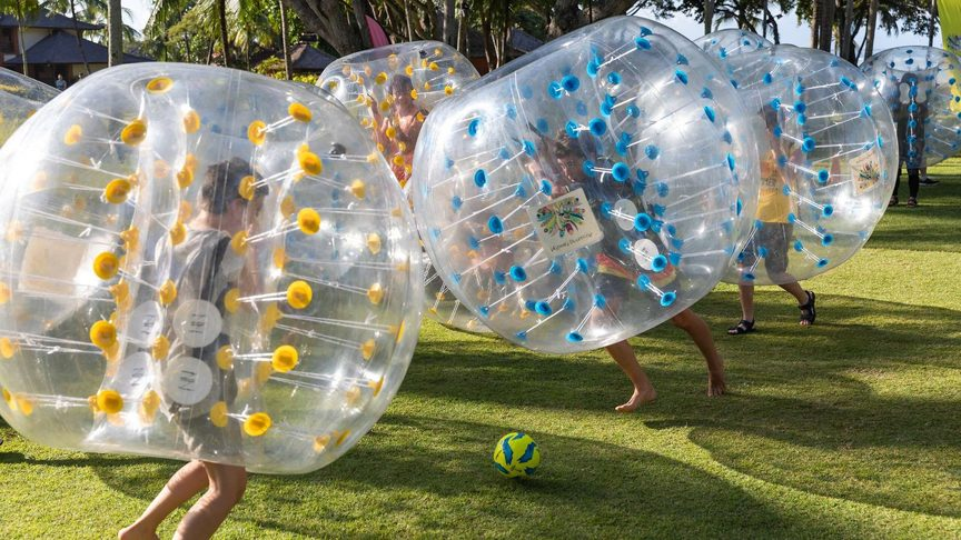 Image: Kids having a ball at Club Med Nusa Dua Bali. Credit: Club Med.