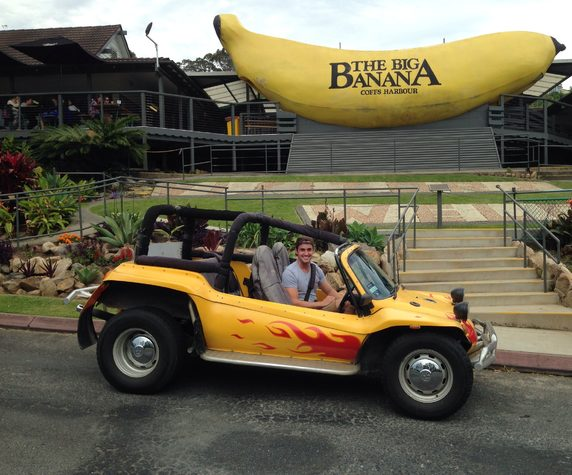 A Big Banana drive-by. Image credit: Virgin Australia