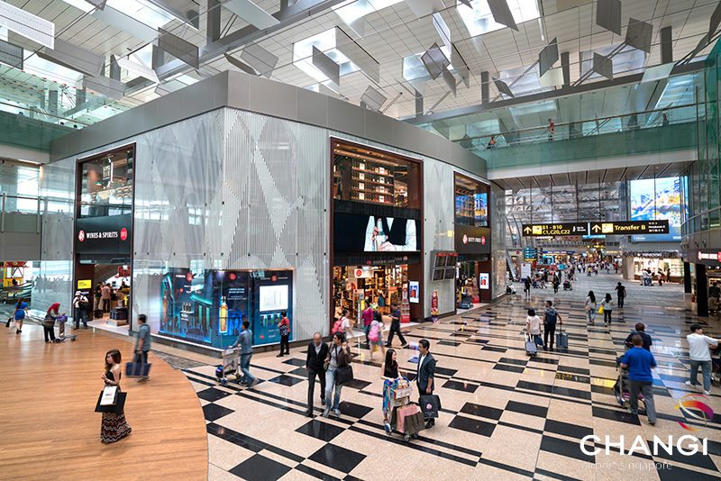 Image: Singapore Airport Terminal 3 - Shopping Street. Credit: Singapore Changi Airport