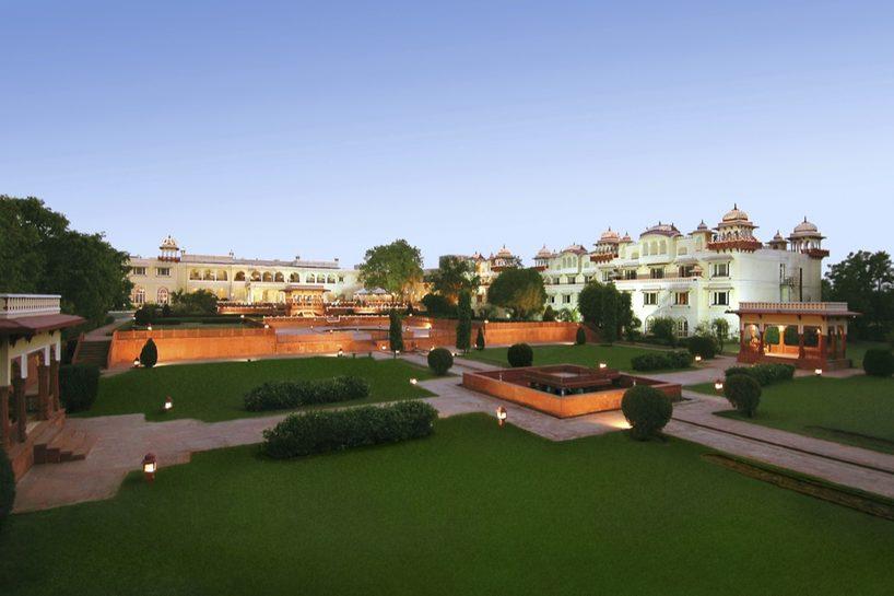 Jai Mahal Palace exterior and grounds, Jaipur. Image credit: Taj Jai Mahal Palace hotel