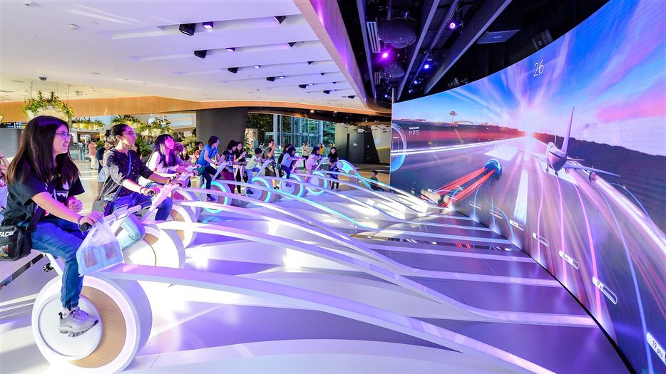 Interactive and physical pursuits at Singapore Changi Airport. Credit: Singapore Changi Airport.